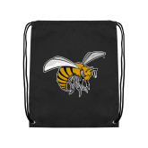 Black Drawstring Backpack-Hornet