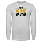 White Long Sleeve T Shirt-Bama State of Mind