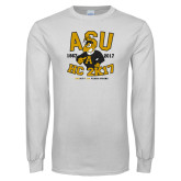 White Long Sleeve T Shirt-ASU HC 2K17