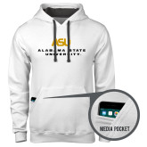 Contemporary Sofspun White Hoodie-ASU Alabama State University