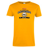 Ladies Gold T Shirt-Five Straight SWAC Championships Mens Golf 2016