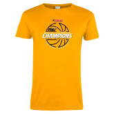 Ladies Gold T Shirt-Back-to-Back SWAC Champions Womens Basketball 2016