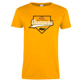Ladies Gold T Shirt-2016 SWAC Champions Softball