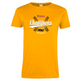 Ladies Gold T Shirt-2016 SWAC Champions Baseball