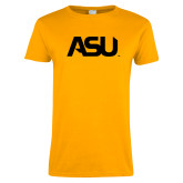 Ladies Gold T Shirt-ASU