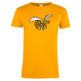 Ladies Gold T Shirt-Hornet