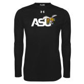Under Armour Black Long Sleeve Tech Tee-Official Logo