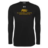 Under Armour Black Long Sleeve Tech Tee-ASU Alabama State University