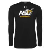 Under Armour Black Long Sleeve Tech Tee-Baseball
