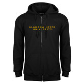Black Fleece Full Zip Hoodie-Alabama State University