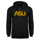 Black Fleece Full Zip Hoodie-ASU