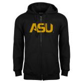 Black Fleece Full Zip Hoodie-ASU