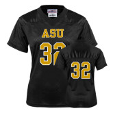 Ladies Black Replica Football Jersey-#32