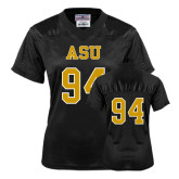 Ladies Black Replica Football Jersey-#94