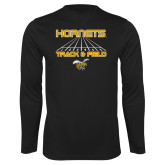 Syntrel Performance Black Longsleeve Shirt-Track and Field Lanes