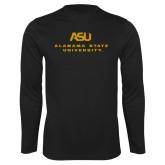 Performance Black Longsleeve Shirt-ASU Alabama State University
