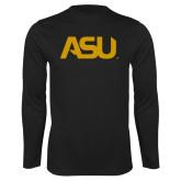 Performance Black Longsleeve Shirt-ASU