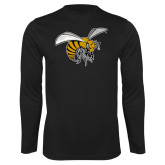 Performance Black Longsleeve Shirt-Hornet
