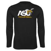 Performance Black Longsleeve Shirt-Volleyball