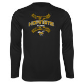 Performance Black Longsleeve Shirt-Baseball Seams