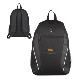 Atlas Black Computer Backpack-ASU Alabama State University