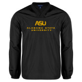 V Neck Black Raglan Windshirt-ASU Alabama State University
