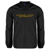 V Neck Black Raglan Windshirt-Alabama State University