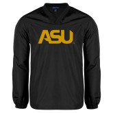 V Neck Black Raglan Windshirt-ASU
