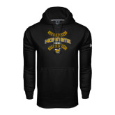 Under Armour Black Performance Sweats Team Hoodie-Baseball Seams