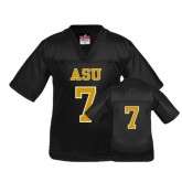 Youth Replica Black Football Jersey-#7