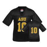 Youth Replica Black Football Jersey-#10