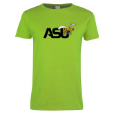 Ladies Lime Green T Shirt-Official Logo