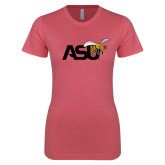 Next Level Ladies SoftStyle Junior Fitted Pink Tee-Official Logo