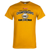 Gold T Shirt-Four Straight SWAC Championships Womens Golf 2016