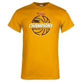 Gold T Shirt-Back-to-Back SWAC Champions Womens Basketball 2016