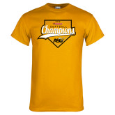 Gold T Shirt-2016 SWAC Champions Softball