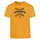Youth Gold T Shirt-Softball Seams