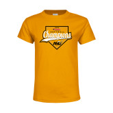 Youth Gold T Shirt-2016 SWAC Champions Softball