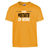 Youth Gold T Shirt-Bama State of Mind