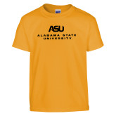 Youth Gold T Shirt-ASU Alabama State University