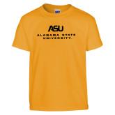 Youth Gold T Shirt-ASU Alabama State University