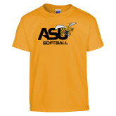 Youth Gold T Shirt-Softball