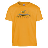 Youth Gold T Shirt-Football Field