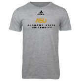 Adidas Sport Grey Logo T Shirt-ASU Alabama State University