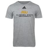 Adidas Sport Grey Logo T Shirt-ASU Alabama State University