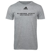 Adidas Sport Grey Logo T Shirt-Alabama State University