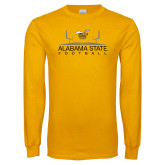Gold Long Sleeve T Shirt-Football Field