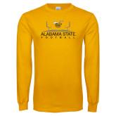 Gold Long Sleeve T Shirt-Football Field