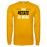 Gold Long Sleeve T Shirt-Bama State of Mind