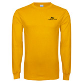 Gold Long Sleeve T Shirt-ASU Alabama State University